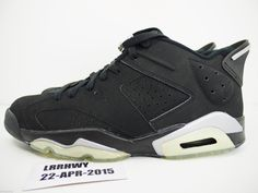 fc04c6335946ec Buy Nike Air Jordan 6 Retro Low Men s Size 9 Black Silver SNEAKERS Shoes  2001 online