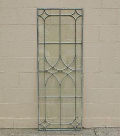 Victorian beveled leaded glass window.