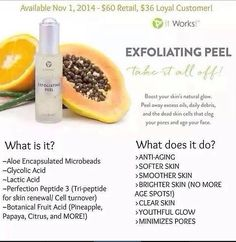 Do you go to a salon and get a #peel done?  How much do you pay?  I know I wa paying $100 per peel!!!  Get this bottle of exfoliating peel from IT WORKS FOR JUST $36 as a loyal customer and get 10 peels or more from the comfort of your own home and you can order now!!  Be the first to fall in love with our newest product!  Wrapwitharose.com