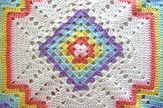 Ravelry: Crocheted Rainbow Set: Blanket, Jacket and Booties pattern by Helen Passey