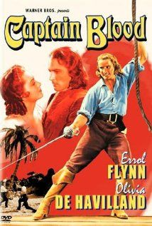 Captain Blood (1935) Poster An enslaved doctor and his comrades in chains escape and become pirates of the Robin Hood variety. Dir: Michael Curtiz With: Errol Flynn, Olivia de Havilland, Lionel Atwill Nominated for 5 Oscars