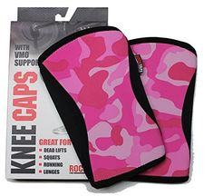 Rocktape Knee Caps, Pink Camo, 5 mm/Medium Color: Pink Camo Size: 5 mm/Medium Model: 799975714257 * You can find out more details at the link of the image.