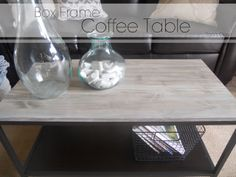 Great diy box frame coffee table. I just might have to do this.