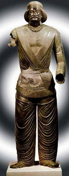 The bronze statue of Parthian prince or Sorena, ca 100 BCE-100 CE