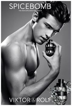 Viktor & Rolf Spicebomb Perfume - The Perfume Girl. Fragrances and colognes from fashion houses and perfume designers. Scent resources, perfume database, and campaign ad photos. Sean O'pry, Highest Paid Male Model, Anuncio Perfume, Rafael Miller, Victor And Rolf, Male Models Poses, Perfume Ad, Perfume Deals, Little Bit