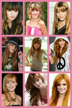 Bella Thorne then and now