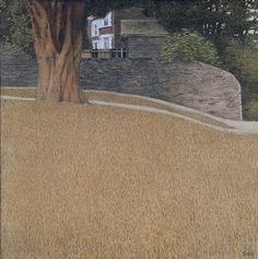 Alexey Begak(Алексей Бегак, Russian)  Autumn landscape with grass Пейзаж с осенней травой