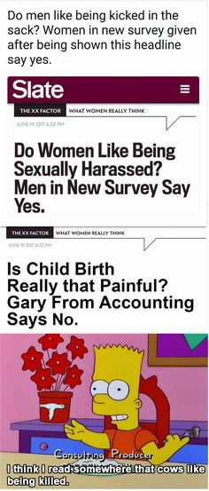 The first Slate headline is from an actual article, the second is a sarcastic response.