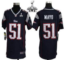 Jerod Mayo #51 New England Patriots Jersey Youth's M 10-12 Reebok ...