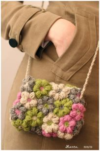 Crochet flower bag free pattern