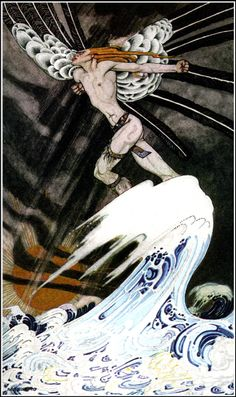 """Kay Nielsen: """"The Blue Belt"""" from """"East of the Sun and West of the Moon"""""""