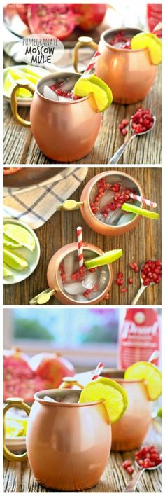 Pomegranate Moscow Mule by thecookierookie: The perfect Winter Cocktail! Be holiday ready with this delicious drink! #Cocktail #Moscow_Mule #Pomegranate