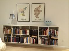 Min bogreol | Reader's Retrospect Bookshelves, Bookcase, Interior Decorating, Interior Design, Cube, Sweet Home, Gallery Wall, Room Decor, Indoor