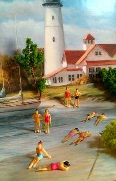 Beach miniature people