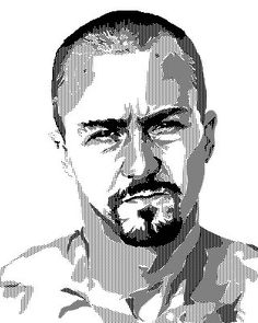 Again: patterns, pure black and white. American History X Two-tone