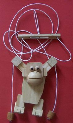How to make a wooden rope-climbing monkey toy
