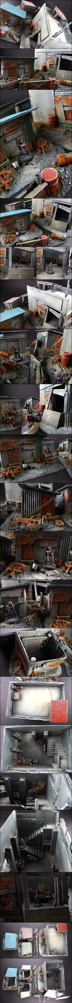 1000 Images About Garages Scale Minis On Pinterest