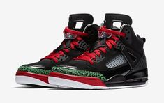 size 40 01219 f2484 Air Jordan 4 Spizike Red Green and Black Size 8-8.5 Good Condition Worn  Twice