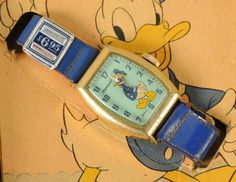 Lot # : 2113 - Disney Donald Duck Comic Character Wrist Watch. Donald Duck Characters, Donald Duck Comic, Comic Character, Vintage Toys, Children's Watches, Nostalgia, Auction, Comics, Disney