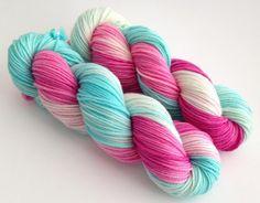 Hand Dyed Yarn  Paris Amour  Superwash Merino by YarnLoftbyJulia
