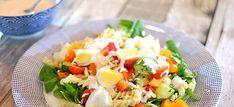 Deze lekkere pastasalade met veldsla, rucola en ei is zo gemaakt en is makkelijk vantevoren te bereiden. Bekijk hier het recept voor deze pastasalade.