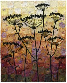 Autumn Umbels (umbels 14) by Kirsten's Fabric Art, via Flickr