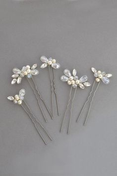 Bridal silver wedding hair pins Romantic bridal hair piece Crystal bridal hair vine Wedding crystal headpiece bridal hair set Bridal bun pin - All For New Hairstyles Romantic Bridal Hair, Bridal Bun, Bridal Hair Vine, Gold Hair Accessories, Hair Setting, Wedding Hair Pins, Hair Decorations, Hair Beads, Hair Jewelry