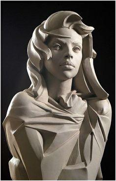 Stone Sculptures, Full Figure Portrait Sculpting by Philippe Faraut Sculptures Céramiques, Sculpture Clay, Statue Ange, Arte Fashion, Art Pierre, Zbrush, Pablo Picasso, Art Deco, Clay Art