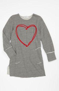 Joah Love 'Heart' Tunic Dress (Little Girls & Big Girls) | Nordstrom