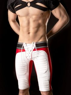 Motorrad Pants Yann white red black