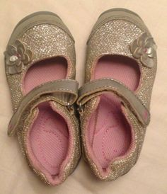 Carter/'s Toddler Girl/'s Light Up Sandals Velcro PINK RAINBOW Sizes US 6M /& US 8M