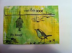 Annes Art Place Garden Birds, My Stamp, Bird Cage, Bird Houses, Sweet Dreams, Owls, Feathers, Bee, Artwork