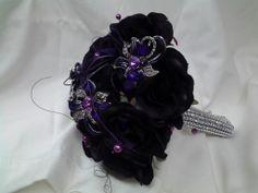 Purple bouquet with diamante