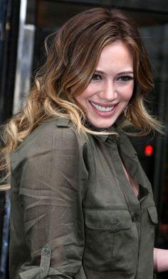 Hilary Duff With Dip Dye Hair, 2011