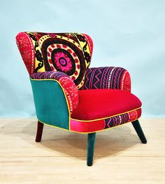 Suzani armchair sunrise by namedesignstudio on Etsy