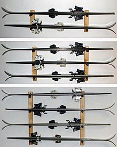 Wall Mounted Horizontal Ski Rack