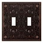 Creative Accents Arabesque 1 Duplex Wall Plate - Antique Bronze-9DCB108 at The Home Depot