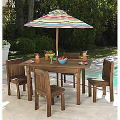 KidKraft Outdoor Table And Chair For Kids Small Patio Lounge Children  Furniture | Outdoor Tables And Chairs, Chairs For Kids And Children  Furniture