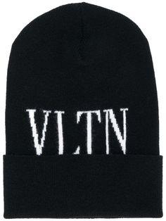 Valentino Logo Knit Beanie - Farfetch 28bda6589623