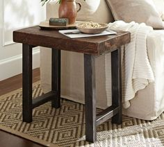 This would look great in my living room. Griffin Side Table | Pottery Barn...now to figure out how to make this for a fraction of the price!