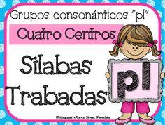 """NO PREP! Spanish Blends """"Pl""""  CCSS NO REQUIERE PREPARACION!  Este paquete incluye cuatro centros o estaciones  para las silabas trabadas o grupos consonnticos  """"pla, ple, pli, plo, plu"""" con hojas de registro para los estudiantes a diferentes niveles.CCSS:    RF.K.2.B RF.K.1.C , RF.2.3.D, RF.2.3.C, RF.2.3.F, RF.1.1 A, RF.1.2.A, RF.1.2.D,  RF.1.3.A, RF. 1.3, RF.1.3.DB, RF.1.3.D,  RF.1.3.G,  RF.1.4.B , RF.K.1.B, RF.K.2.B,RF.K.3.A, LK.2DCentros:1.- Tapetes de silabas trabadas para plastilina5…"""