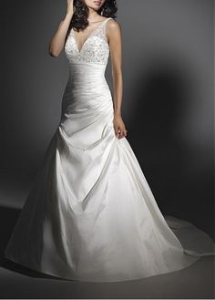 ELEGANT TAFFETA A-LINE SWEETHEART NECKLINE WEDDING DRESS LACE BRIDESMAID PARTY COCKTAIL GOWN FORMAL BRIDAL PROM CUSTOM