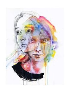 Girls Change Colors Art Print by Agnes Cecile at Art.co.uk