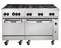 "Endurance 60SS-10BN 60"" Wide 10 Burner Gas Range, 2 Std Oven"