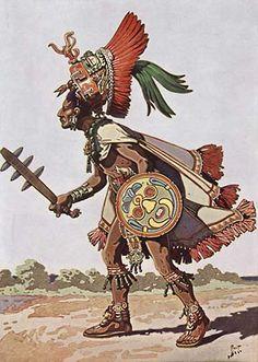 Maya warrior. (America, northern continent)