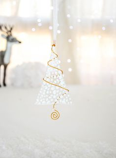 White Opalescent Fused Glass Christmas Ornament- Christmas Tree-Glass Christmas Tree by NojaGlassDesign on Etsy https://www.etsy.com/listing/488554933/white-opalescent-fused-glass-christmas
