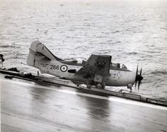 Fairey Gannet of 812 Squadron FAA goes over the side of HMS Bulwark during take off on Pilot survived. Military Jets, Military Aircraft, British Aircraft Carrier, Royal Navy Aircraft Carriers, Aviation Accidents, Hms Ark Royal, Royal Australian Navy, Capital Ship, Royal Marines