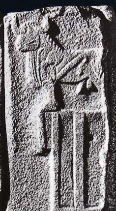 Hittite, the sphinx gate, relief a bull, Alacahöyük, 1460-1190 BC Museum of Anatolian Civilisations, Ankara