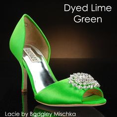 Check out the Lacie wedding shoe by Badgley Mischka- dyed Lime Green!!  $229 at MyGlassSlipper.com!