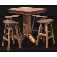 Rustic Bar Table And Stools - There are a lot of details you will need to look if you're selecting a pub table to improve Pub Table And Stools, Rustic Pub Table, High Dining Table, High Top Tables, Table Cafe, Table And Chairs, Pub Tables, Restaurant Tables, Cafe Chairs